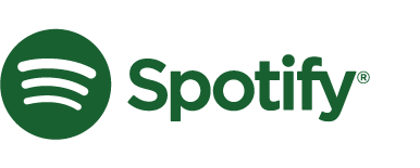 the Spotify logo in an unapproved dark green color